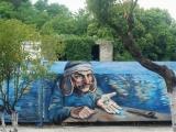Завершились работы по нанесению стрит-арта на стене напротив Горской школы в Сухуме